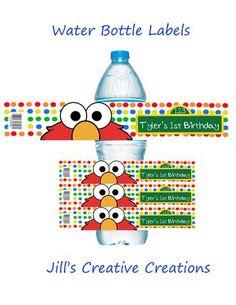 Homemade diy elmo birthday invitations silhouette cameo i have all elmo water bottle labels solutioingenieria Choice Image
