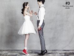 Korean star's wedding photography, cute concept pre wedding photography, playful…