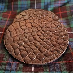 EXOTIC CROCODILE SPORRANS. The first 'face' of a twelve unit order being handcrafted in Cape Town by #afrocelticsporrans for kilt shops in the EU today. All real leather components.  It's a lovely skin to work with. . . . . . . . . #sporran #sporrans #scottishsporran #celtic #kilts #traditionalkilts #meninkilts #kiltsociety #businesscapetown #exoticsporrans Kilt Shop, Tartan Tie, Men In Kilts, Cape Town, Crocodile, Real Leather, Celtic, Shops, Face