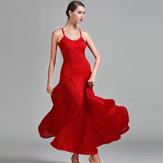 5d5c114d3 Price tracker and history of sexy Red ballroom dress black spanish flamenco dress  ballroom dance dress viennese waltz dress fringe tango modern dance ...