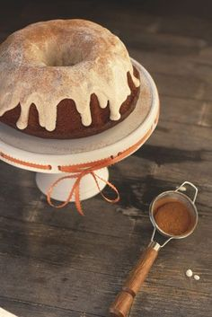Sweet Potato Bundt Cake with Cream Cheese Glaze by Jaclyn of Food Plus Words
