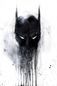 BATMAN / art, #Heroes #Bruce Wayne #DC #Comics #Mask #Cowl #Art #Paint