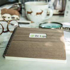 Werbegeschenke mit Anspruch - ein Schreibblock mit einem Deckel aus Holz