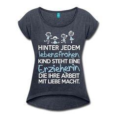 Erzieherin mit Liebe T-Shirt   Erzieherinnen