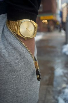 Covetable menswear: loving the idea of the large gold mans watch
