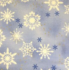 """Snowflake on Light Blue Fabric  Five - 6""""  Cotton Fabric Block Quilt Charm  5 Pieces Cute Christmas Fabric  # 301-534 by AlwaysInStitchesCo on Etsy"""