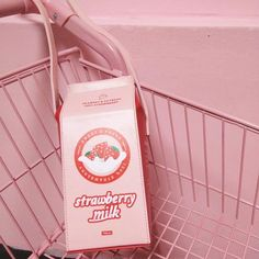 Pastel Pink Strawberry Milk Carton Bag SD01790