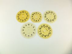 Vintage Clock Dial Faces Vintage Russian Clock by ContesDeFees