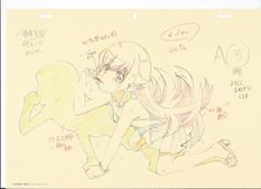 artist_unknown genga monogatari_second_season monogatari_series