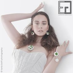 FOREST COLLECTION porcelain, moss earrings, necklace and adjustable bracelet