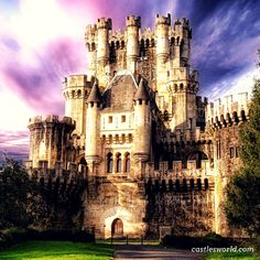Castillo de Butron, Spain Although it dates from the Middle Ages, the castle owes its present appearance to an almost complete rebuilding in 1878. The castle has a fairy-tale look, inspired by Bavarian castle models. The present building was created as a hobby for its then owner and to create something which is visually spectacular rather than to produce something in which people could actually live.