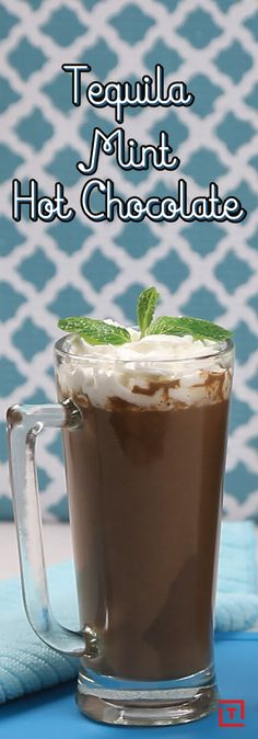 Everyone knows hot chocolate helps make winter more tolerable, and that adding a little peppermint schnapps to hot chocolate helps make hot chocolate better at making winter more tolerable. But what about when you need more than just schnapps to take the edge off? That's where tequila comes in, creating a doubly boozy warm winter libation powerful enough to make you forget about that disgusting gray slush pile you just stepped in.