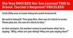 Boy Tells Mom He Learned Bad Words In School. His Teacher's Response Is Funny! via LittleThings.com