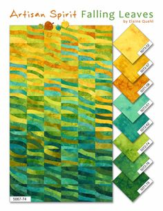 Falling Leaves (Northcott) Elaine Quehl - love this in our store and are so happy she is coming to our area in June!