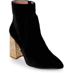 Sequin Heel Booties #boisebombshell