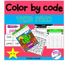 K - 3 Sight Work Color by code worksheets, with checklist for student progress tracking Sight Word Worksheets, Verb Worksheets, Science Books, Science For Kids, Fun Team Games, Book Cover Page, Class Jobs, Book Labels, How To Make Labels