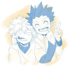 Killua Zoldyk and Gon Freecs- Hunter x Hunter. This is the coolest and cutest friendship of all time.