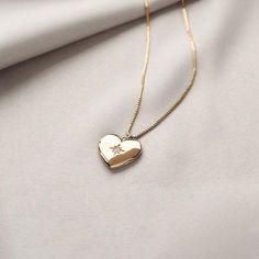 Heart Gold Locket Necklace – Wanderlust + Co Heart Locket Necklace, Gold Locket, Simple Necklace, Heart Necklaces, Best Friend Necklaces, Gold Necklaces, Birthstone Necklace, Star Necklace, Statement Necklaces