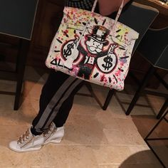 My white Hermes just given to me by Alec Monopoly! OH MY GOD!!!!!!!! Hermes Bags Totes