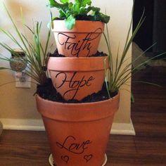 Tiered planter - bridal shower gift.