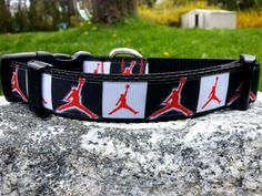 Sports 1 Inch Width Dog Collar by WillyWoofs on Etsy, $18.00