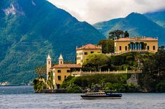 "Villa del Balbianello on Lake Como Italy. I was lucky enough to see the inside of this Villa a few years ago. It was breathtaking. The original owner was an eccentric Millionaire, who lived there alone. His greatest fear was being kidnapped, and to that end, he had a secret tunnel under the villa, leading to a waterway that housed an ""escape"" boat.  The arched building on the top right is actually part of a beautiful gazebo, in the garden. I believe a few movies have been shot here."