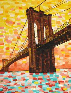 """Saatchi Online Artist: Amanda de Souza; Latex Paint, 2012, Painting """"Hello Brooklyn"""""""