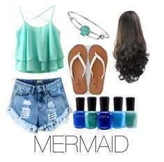 """""""Mermaid"""" by delfinagarcia-1 on Polyvore featuring Disney, American Eagle Outfitters and Zoya"""
