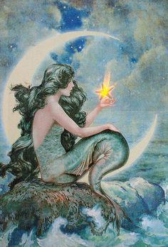 Moon Mermaid Light-Up Canvas