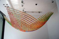 Clothespins Installation by Martin Huberman | Hyperbolic Paraboloid
