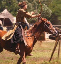 Horseback archer II.  by ~LadyAyslinn
