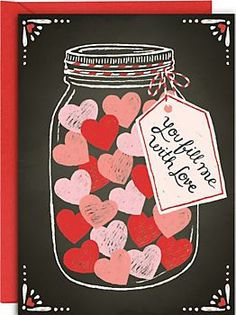 Fill Me With Love Jar Valentine Card