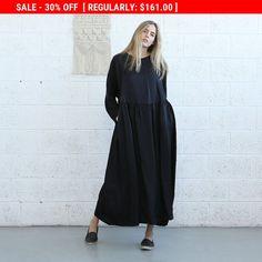 Oversized maxi dress, Black .