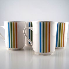 vintage syracuse china coffee cups rainbow by StrychnineVintage
