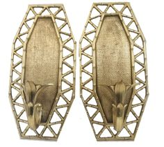 Famous Turtle's Treasures LLC. - Hollywood Regency faux bamboo sconces tiki den office wall decor, $68.99 (http://www.famousturtletreasures.com/products/hollywood-regency-faux-bamboo-sconces.html)