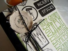 Recipe Book with Canvas Corp Papers - Herb Paper Collection Canvas Corp