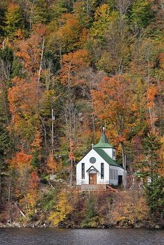 St. Peters By The Lake Chapel ~ Nestled in the Adirondack Park on Fourth Lake of the Fulton Chain, in Eagle Bay, New York
