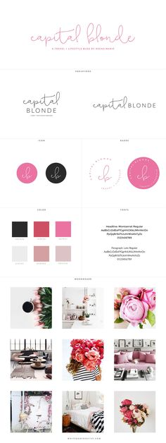 Capital Blonde Blog Design Identity and Website, branding and blog design for fashion blog - logo design, wordpress theme, mood board inspiration, blog design idea, graphic design, branding