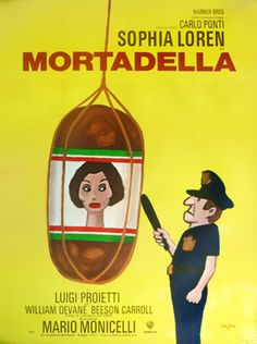 Mortadella (1971) vintage poster by Raymond Savignac