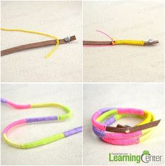 Instructions for making the thread wrapped friendship bracelet