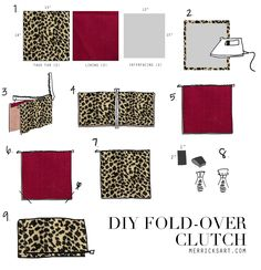 Tutorial: DIY leopard fold over clutch