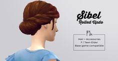 "mlyssimblr: "" Sibel Rolled updo Hi! ♥ I've wanted this hairstyle for aaages, so when I spotted that one of the hair from Island Living looked like a good base material, I jumped on the occasion! Sims 4 Cc Packs, Sims 4 Mm Cc, Sims Four, Sims 4 Cas, My Sims, Sims 4 Decades Challenge, Pelo Sims, Edwardian Hairstyles, Hair Knot"