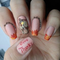 45 Cute and Amazing Thanksgiving Nail Designs That Will Inspire You All Through The Fall Popular Nail Designs, Popular Nail Art, Fall Nail Designs, Thanksgiving Nail Designs, Thanksgiving Nails, Seasonal Nails, Holiday Nails, Feather Nails, November Nails