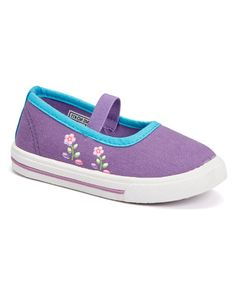 Loving this Purple Flower Sneaker Flat on #zulily! #zulilyfinds