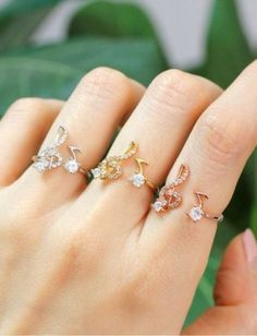 Fantasy Women Girl Musical Note And Treble Clef CZ Ring Bridal Jewelry Rings Music Jewelry, Cute Jewelry, Gold Jewelry, Jewelry Box, Jewelry Necklaces, Bracelets, Jewellery, How To Wear Rings, Cute Rings