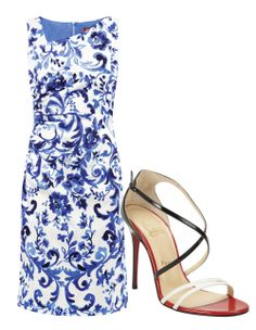 Max Mara Studio dress, matchesfashion.com  Christian Louboutin sandals, barneys.com