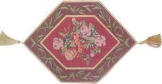 DaDa Bedding Hand-Crafted Woven Field of Roses Tapestry Woven Table Runner, Red Floral, All Sizes