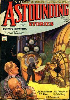 Astounding Stories magazine cover illustration - So pre-Doctor Who!