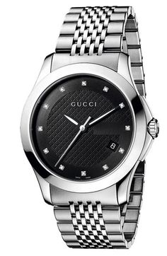Gucci 'G Timeless' Diamond Dial Bracelet Watch available at #Nordstrom