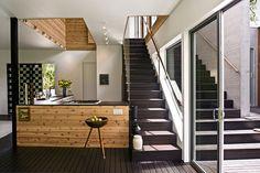 ceiling treatments (cutouts, layering, stepping, mixed media) :: via houzz.com // modern kitchen by Bates Masi Architects LLC
